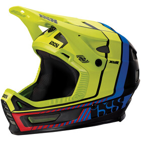 IXS Xult Casco integrale, black/blue/lime